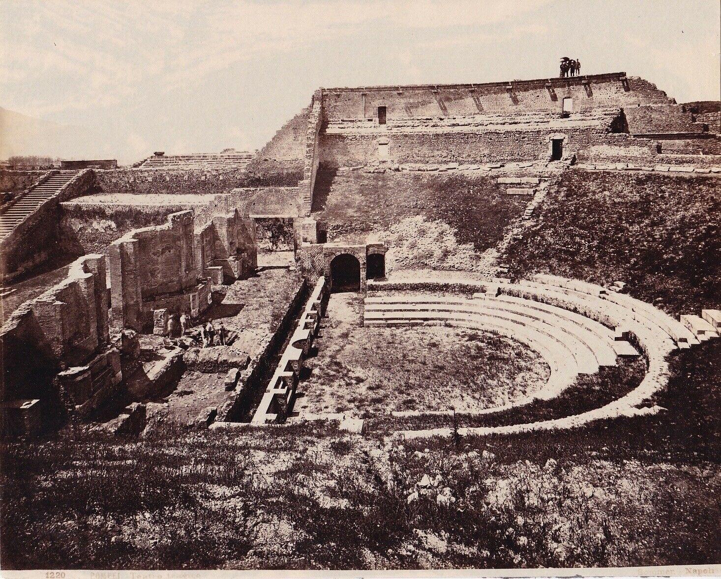 Albumen Photograph Incredible Italy Pompei Excavations 1860s ...