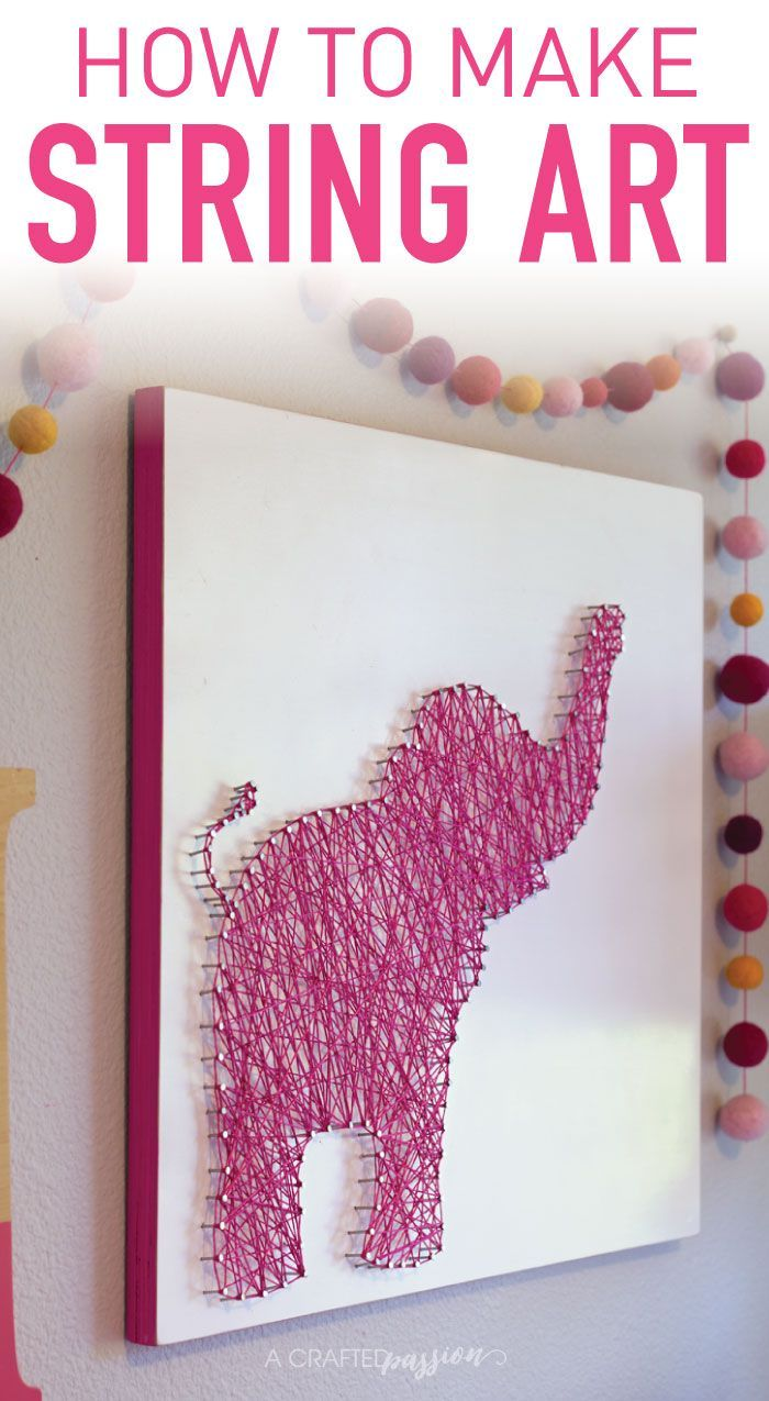 How to Make Elephant String Art How