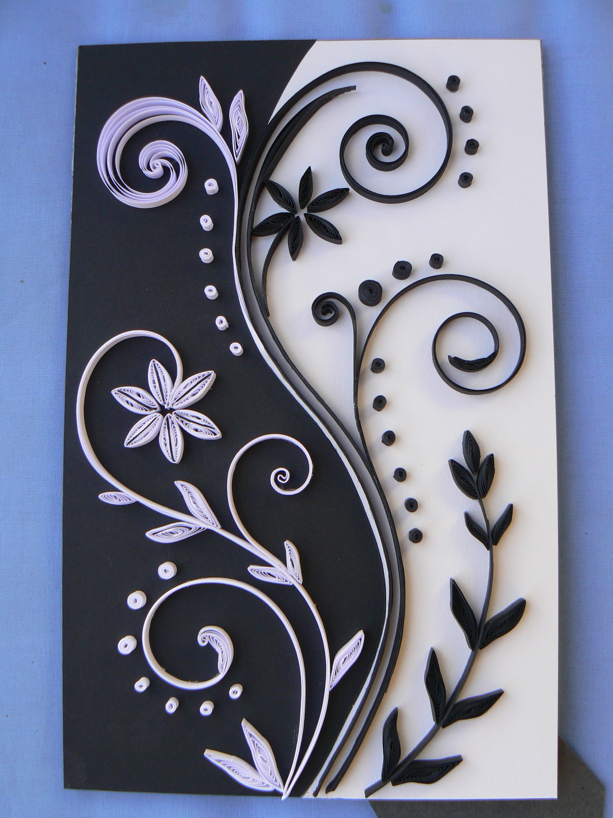noir et blanc le quilling mod les de quilling papier. Black Bedroom Furniture Sets. Home Design Ideas