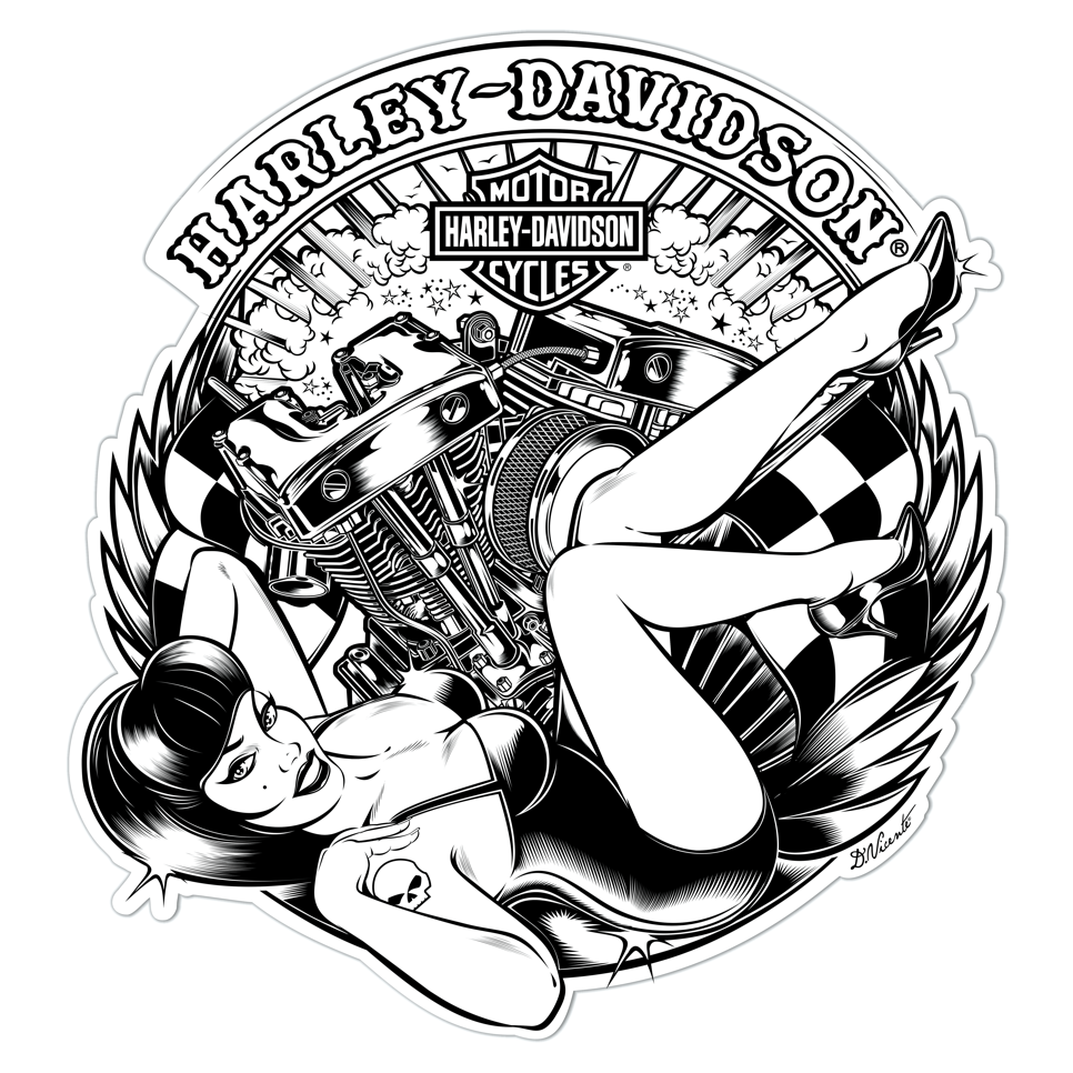 t-shirt design commission harley-davidson