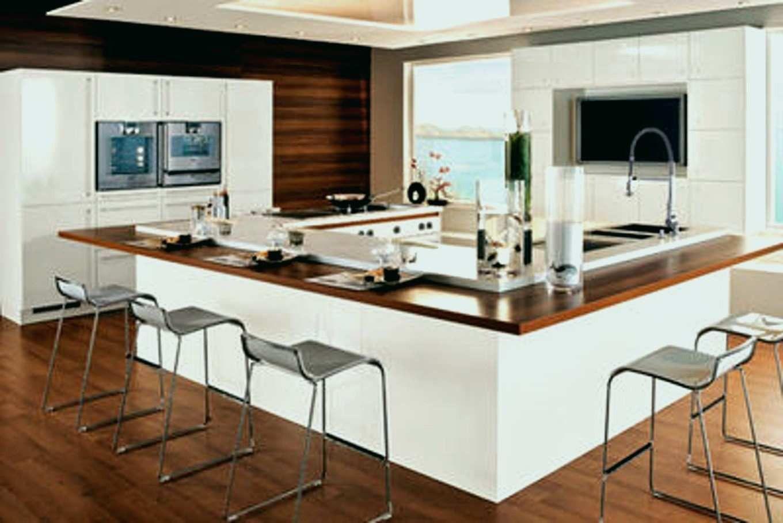 modele de cuisine avec ilot central