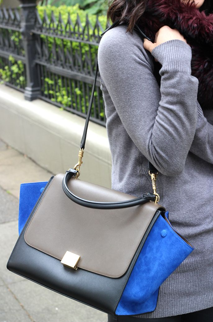 lovely Celine trapeze in leather and suede - love the colour combination!