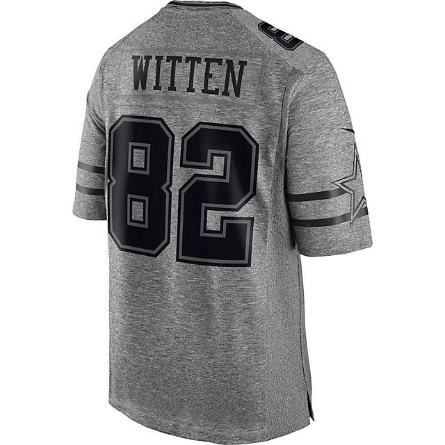 huge discount 1f048 d9ad4 Dallas Cowboys Jason Witten #82 Nike Gridiron Grey Jersey ...