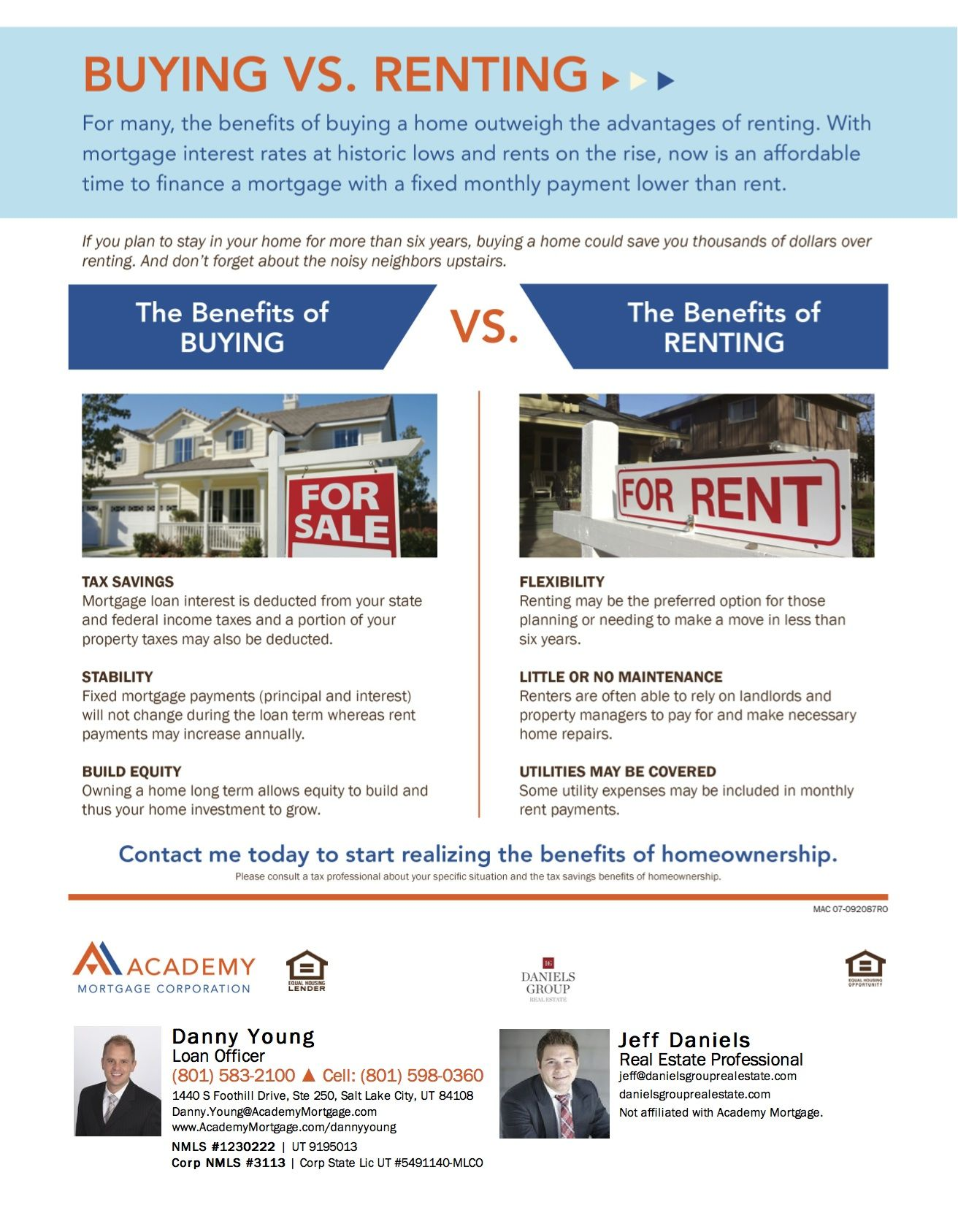 An Overview Of The Benefits Of Buying A Home Vs Renting