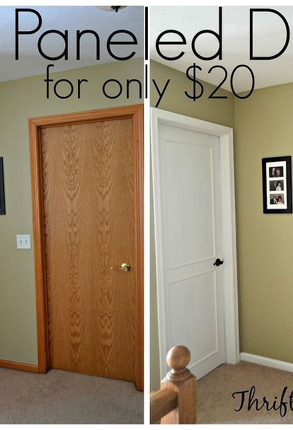 Photo of DIY Paneled Door On A Budget –  hollow core bore to a beautiful updated door diy…