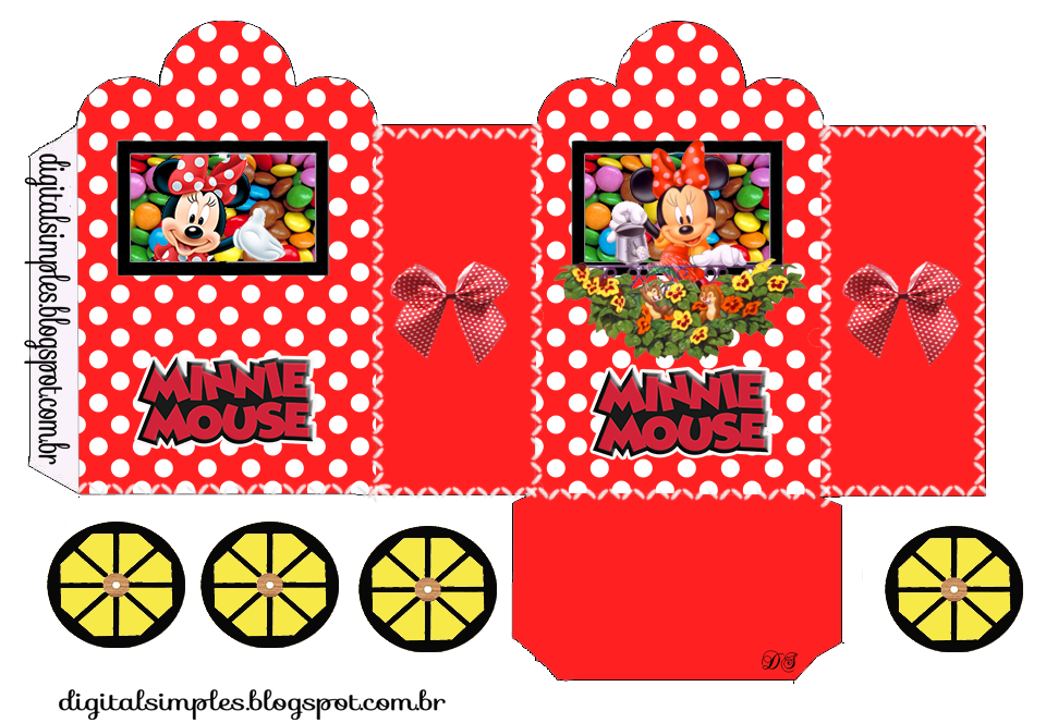 Minnie Red With Polka Dots Princess Carriage Shaped Free