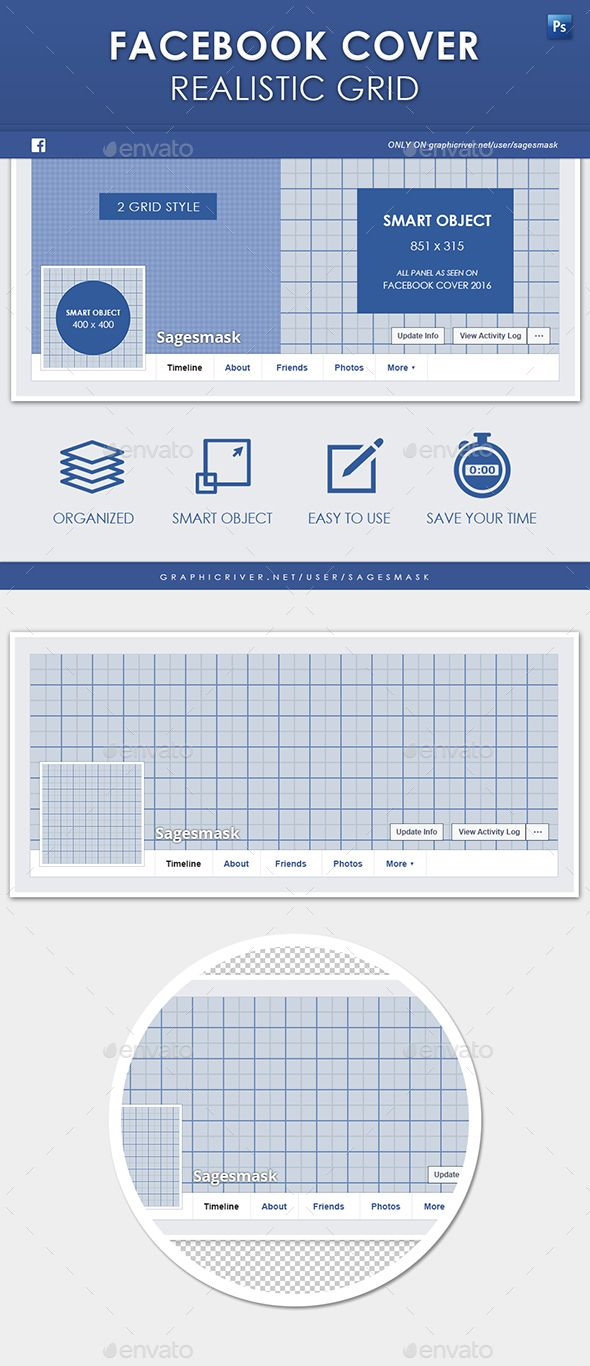 Facebook Timeline Cover Realistic Grid Pinterest Timeline Covers - Facebook ad grid template