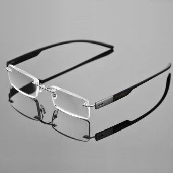 Frameless Eyeglasses Frames : 1x Stylish Frameless Reading Glasses Fashion Reader ...