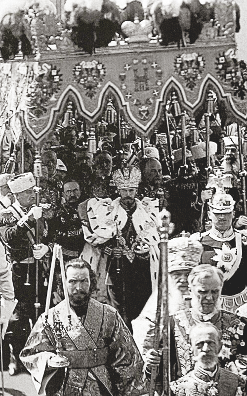 The Coronation of Emperor Nicholas II, May 1896. Last Tsar to win the throne of a united USSR(Russia)