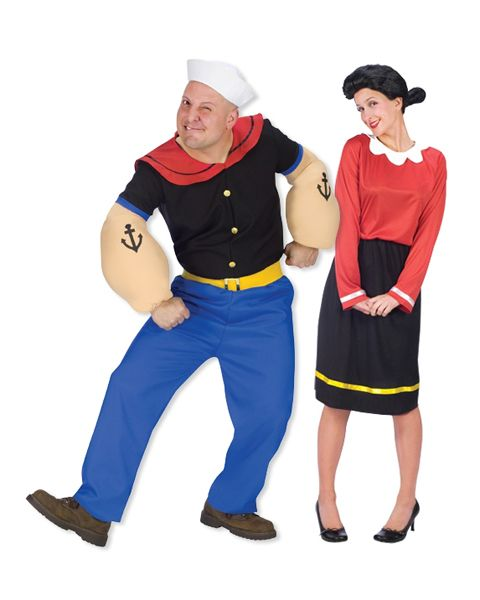 Popeye and olive oyl costumes couples costume 5999 holiday popeye and olive oyl costumes couples costume 5999 solutioingenieria Images