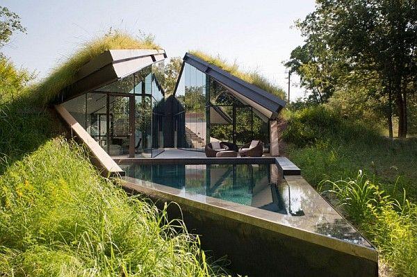 Modern underground house plans