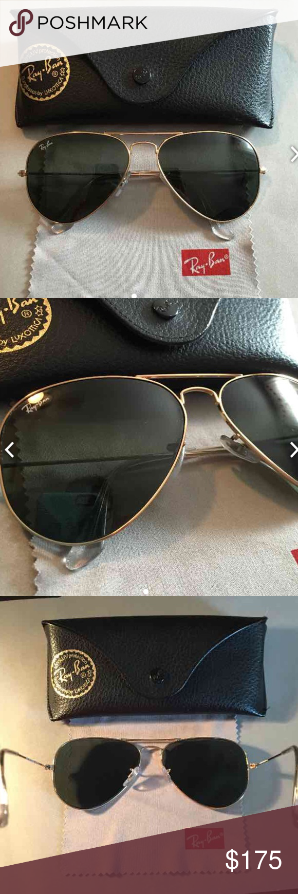 22ffb6a4f37 Comes with original black Ray ban case and lens cloth. Side arm of  sunglasses read