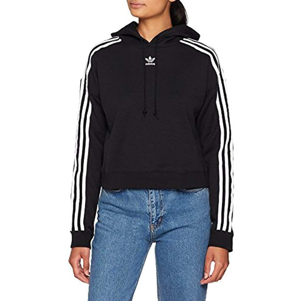 adidas cropped hoodie grigia