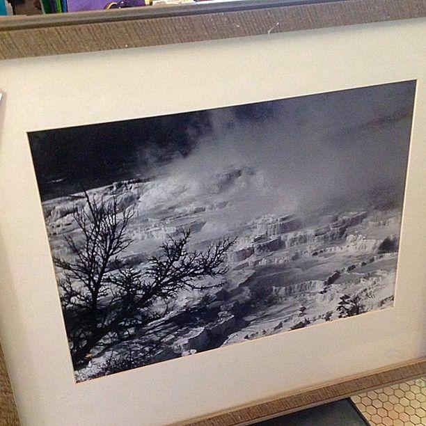 "#MaryMather #LargeFormat #BlackAndWhitePhotograph  "" #MamothHotSprings ""  #YellowstoneNationalPark . Info @ link below."