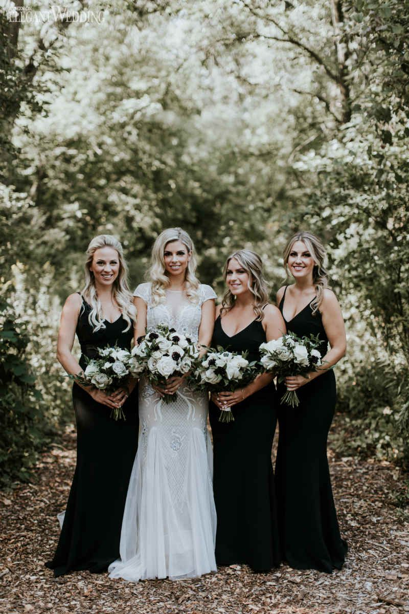 Al Fresco Wedding Filled With Greenery Elegantwedding Ca Black Bridesmaid Dresses Wedding Bridesmaid Dresses Black Bridesmaid Dresses Long [ 1200 x 800 Pixel ]