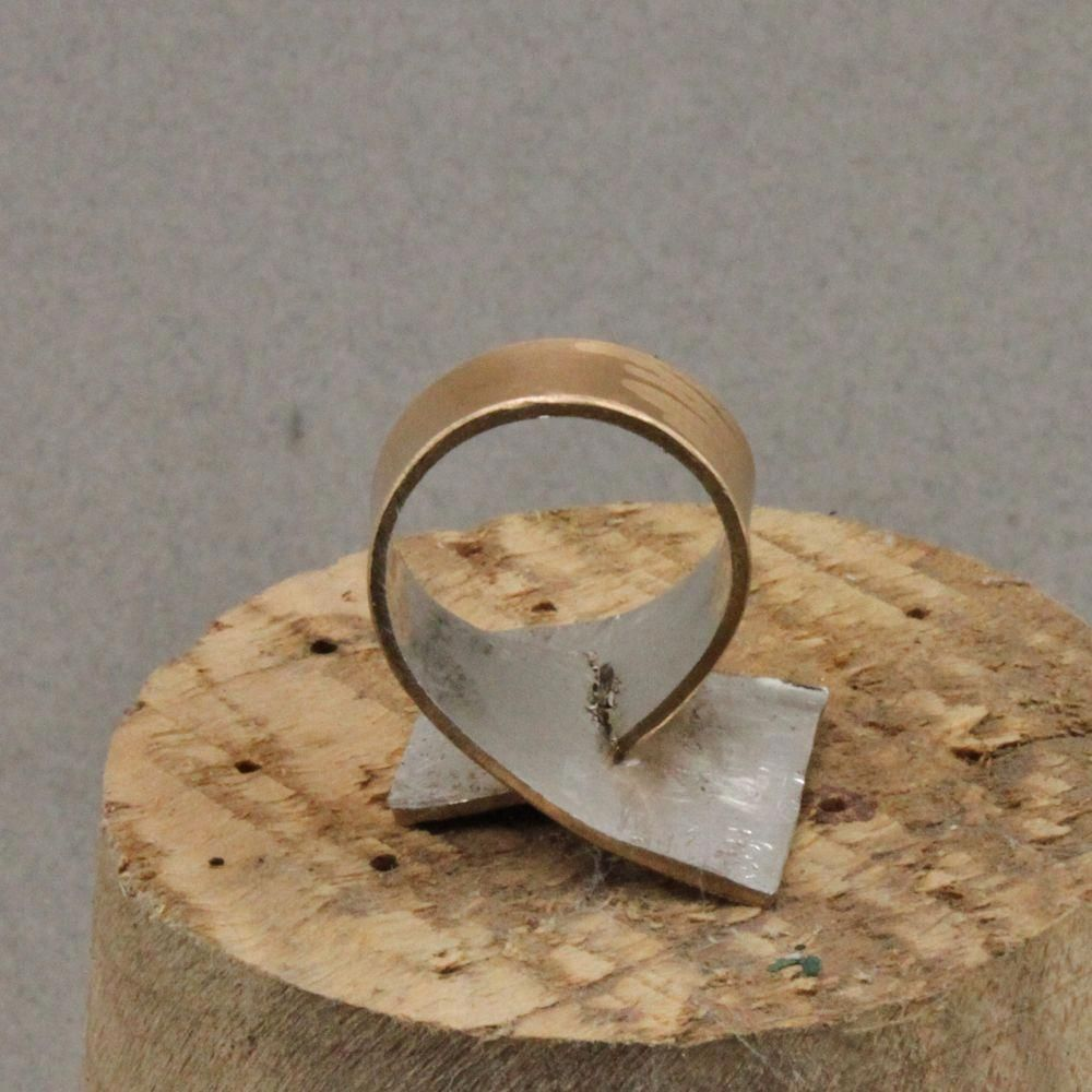 Photo of Rings are fun to create. Flat sheet metal is a great material to begin with. I a…