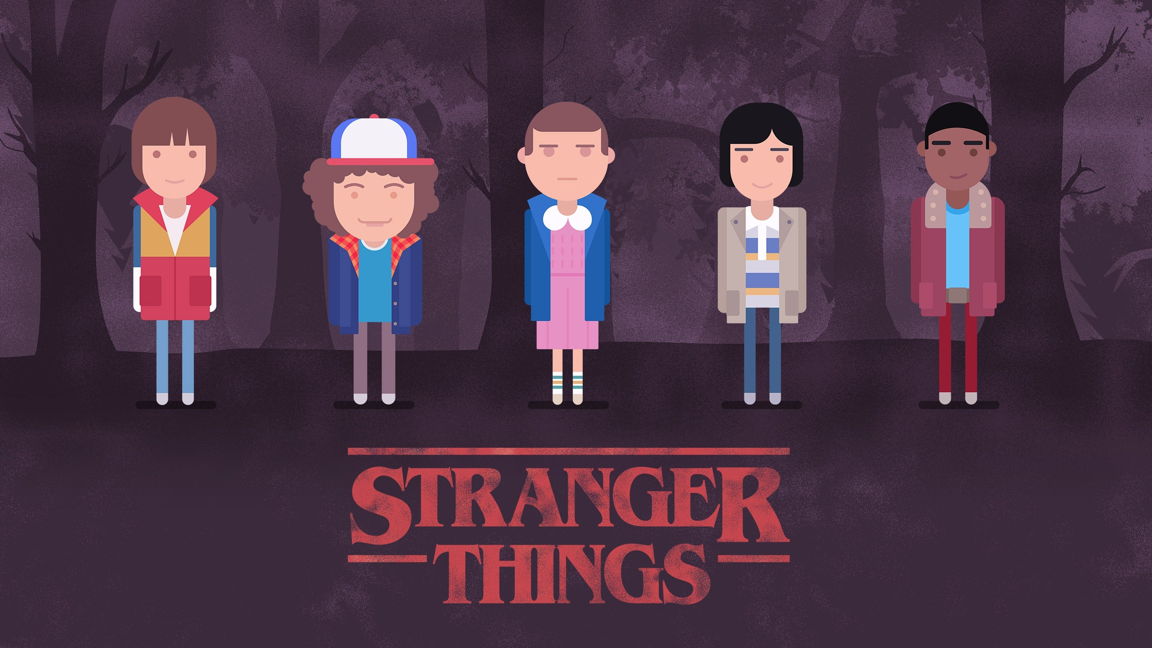 3840x2160 Stranger Things 4k Amazing Wallpaper Hd Stranger Things Wallpaper Stranger Things Art Stranger Things Characters