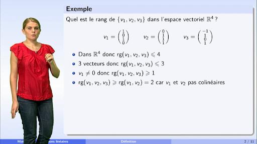 Algebre S2 Chapitre 4 Matrices Et Applications Lineaires