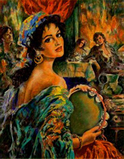 Beautiful Gypsy Woman | Harold Levine's Blog: Curtis ...