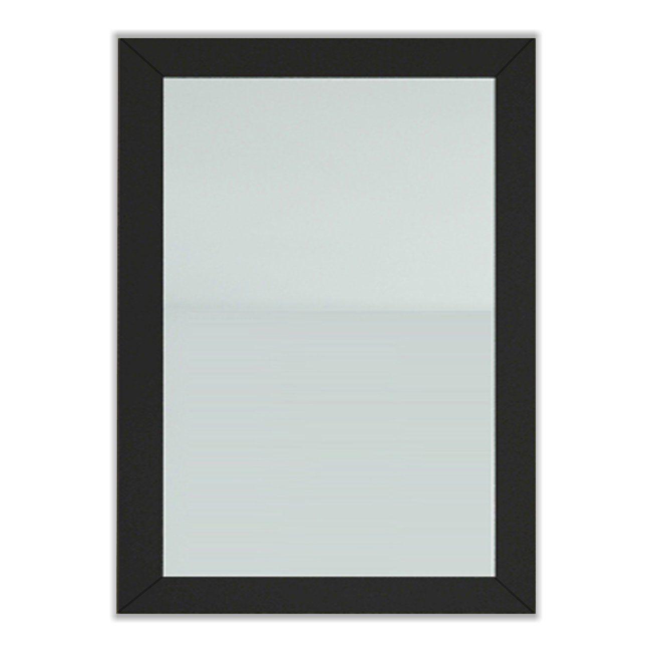 JWH Living Bathroom Mirror with Solid Wood Frame. Dimensions: 24W x ...