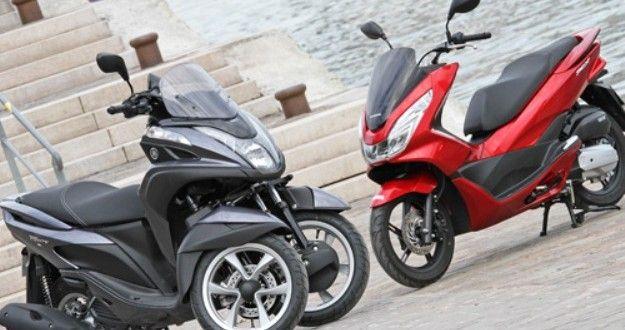 Yamaha Tricity 125 Vs Honda Pcx 125 Best Scooters Bikes Media