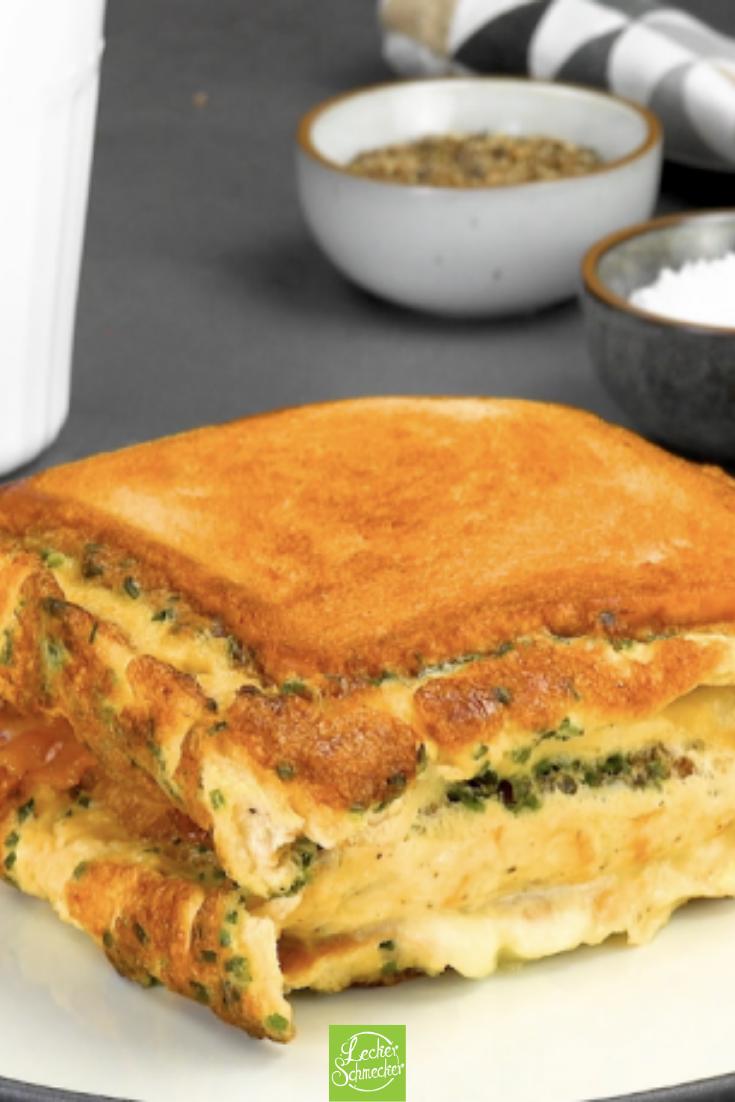 Rezepte-Fusion aus Omelett und Sandwich
