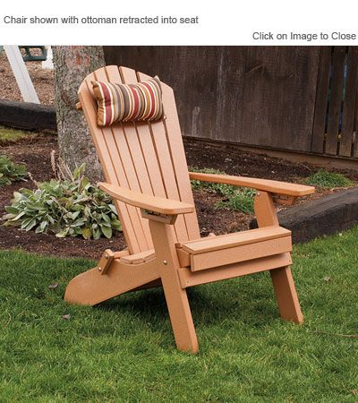 Amish Polycraft 883 Reclining And Folding Adirondack Chair With Bulit In Footrest Recycled Plastic Adirondack Chairs Adirondack Chair Plastic Adirondack Chairs