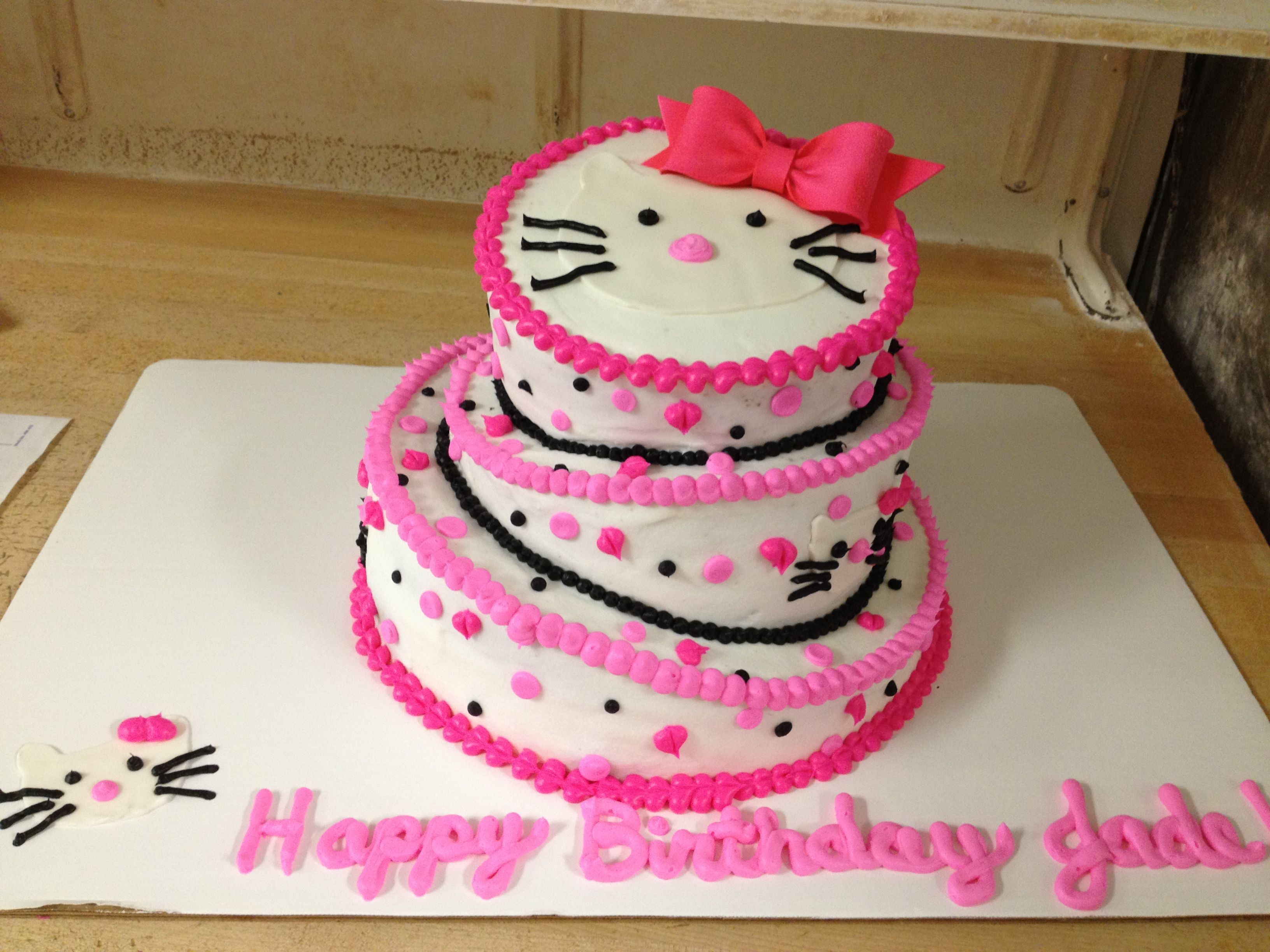 Hello Kitty Themed Birthday Cake