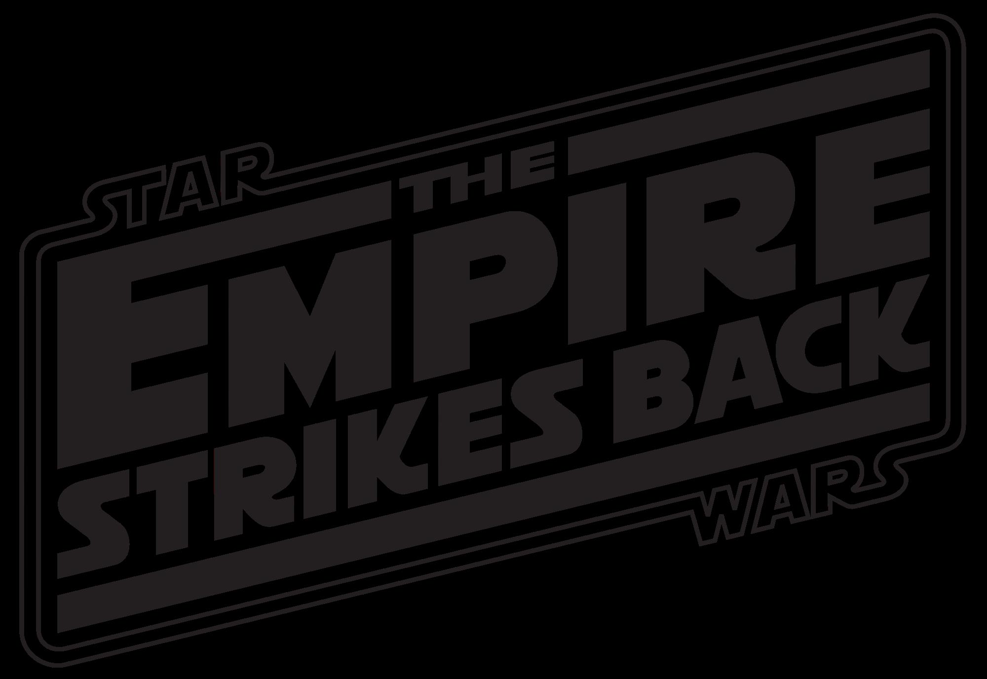 2000px Theempirestrikesback Logo2 Svg Png 2000 1376 Empire Strike Star Wars Empire Hoth