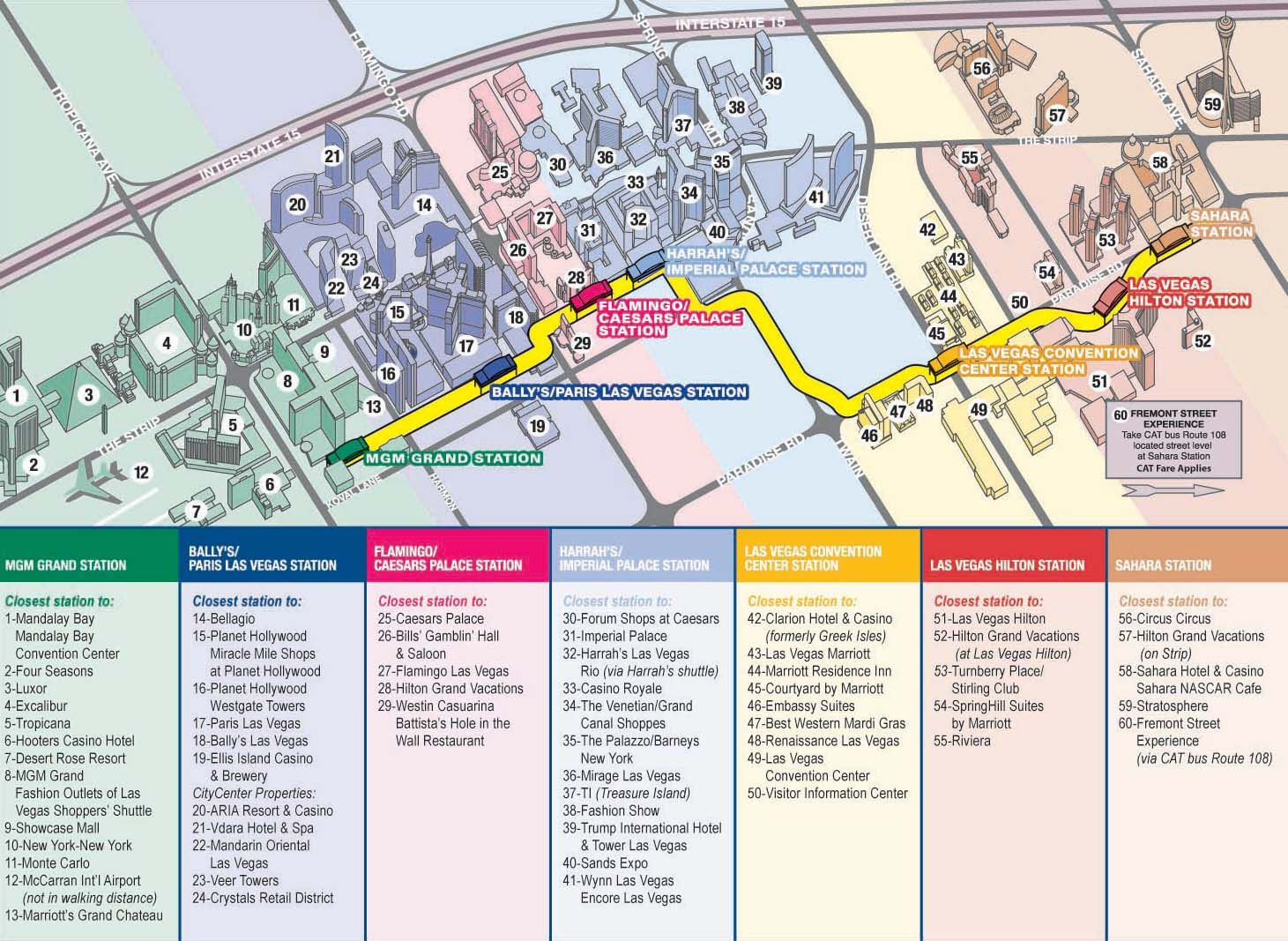 vegas monorail map 2012