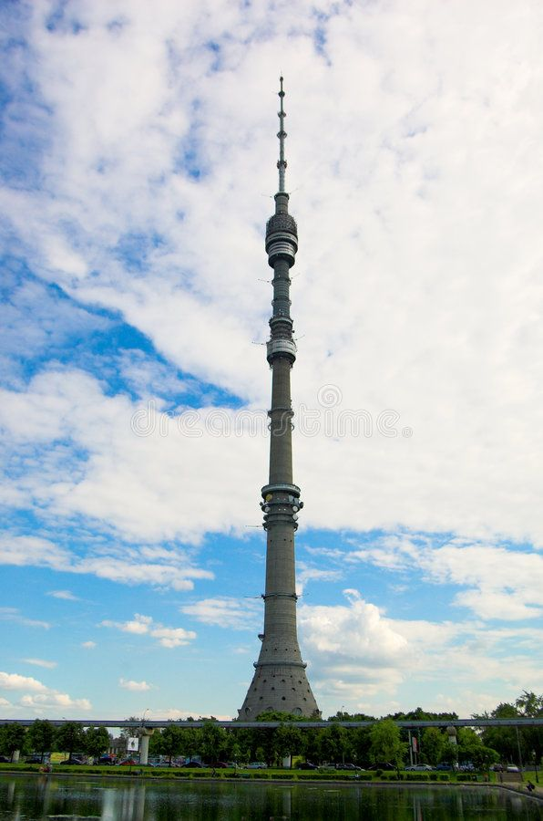 Ostankino tower. Ostankino TV tower, Moscow ,