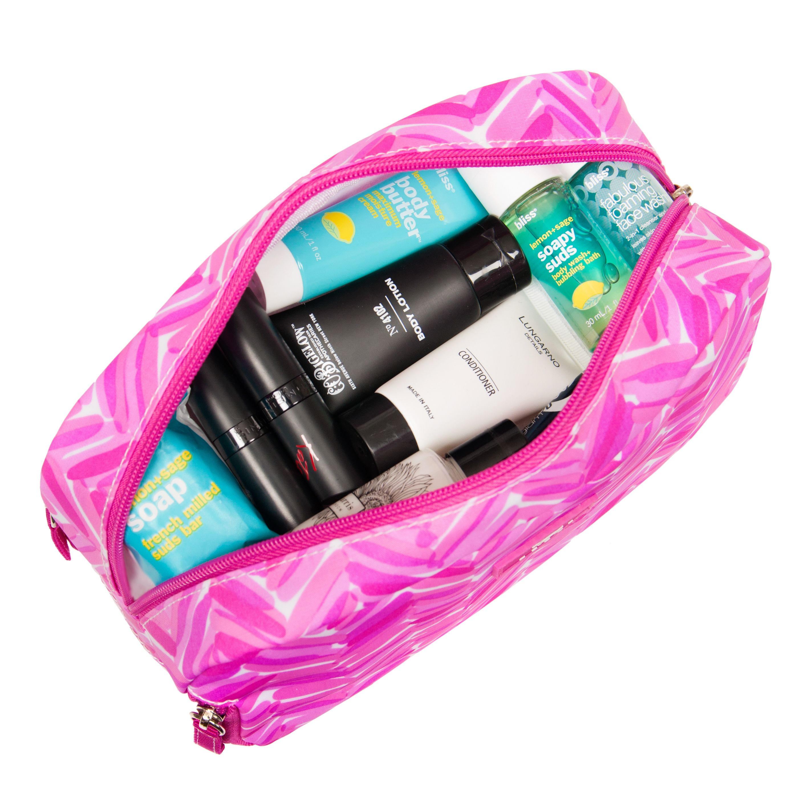 The SCOUT 3Way Cosmetic Bag is the ménage a toiletries