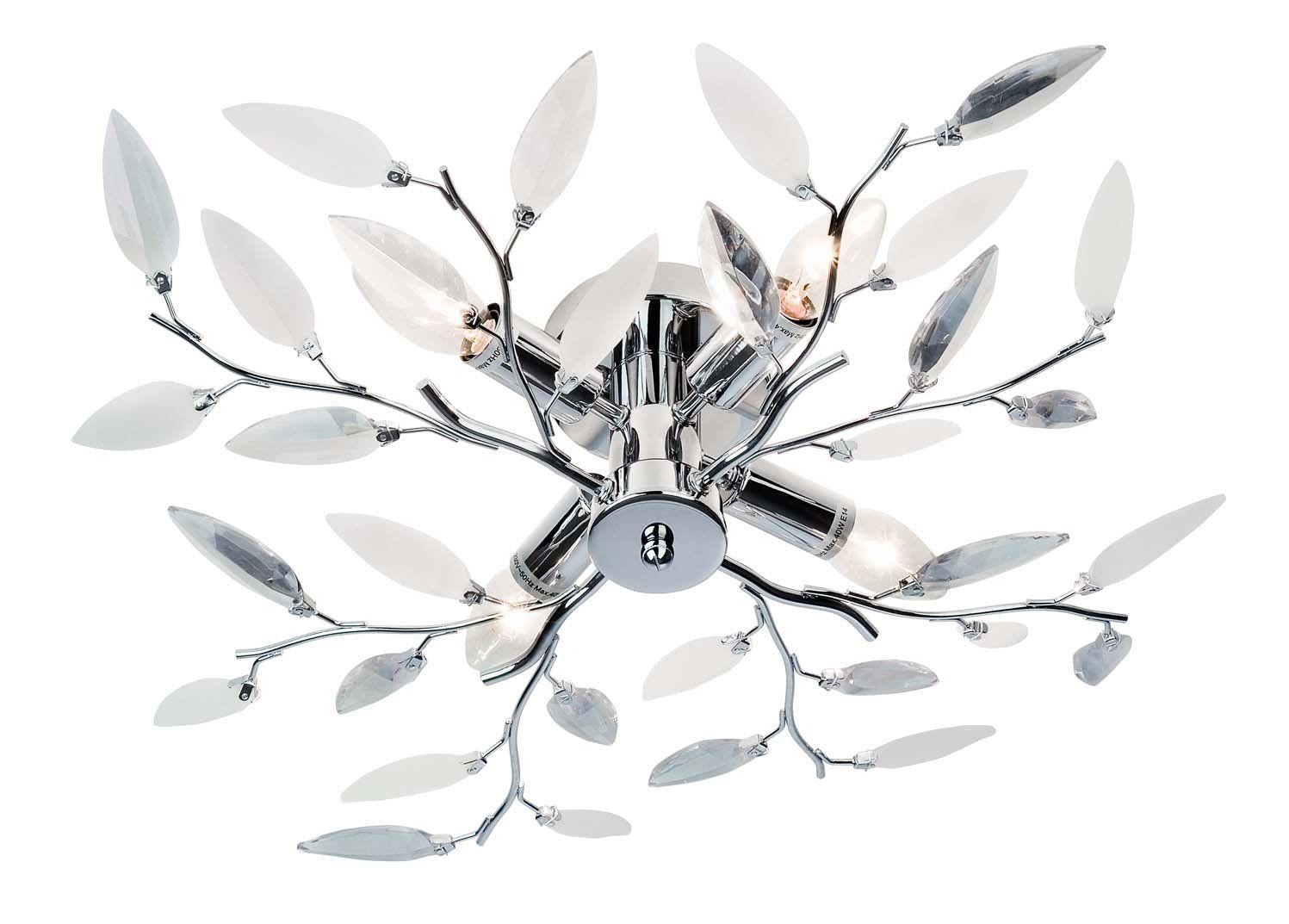Deckenleuchte Nottingham Nino Leuchten Aus Metall Kunststoff In Silberfarben Klar Weiss In Romantik Design Kla Deckenlampe Deckenleuchten Design Nottingham