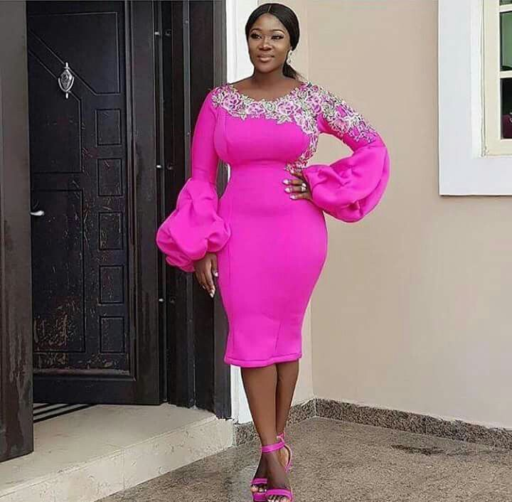 Image result for The Puff sleeves Aso Ebi Styles