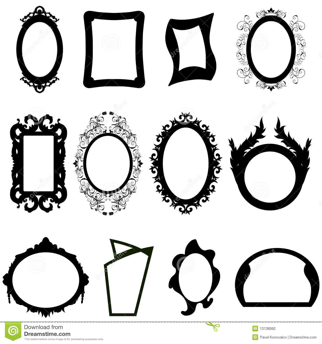 Antique Victorian Frames Stock Vector Enginkorkmaz 6222027