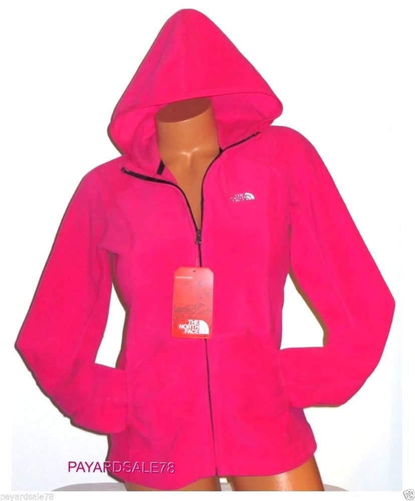 WOMEN'S MEDIUM THE NORTH FACE PINK FLEECE JACKET FULL ZIP HOODIE ...