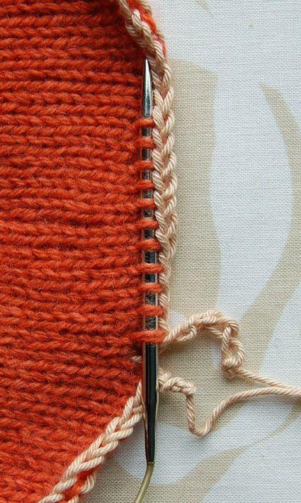 Tutorial. Borde de un trabajo | Punto y lana | Pinterest | Tejido ...