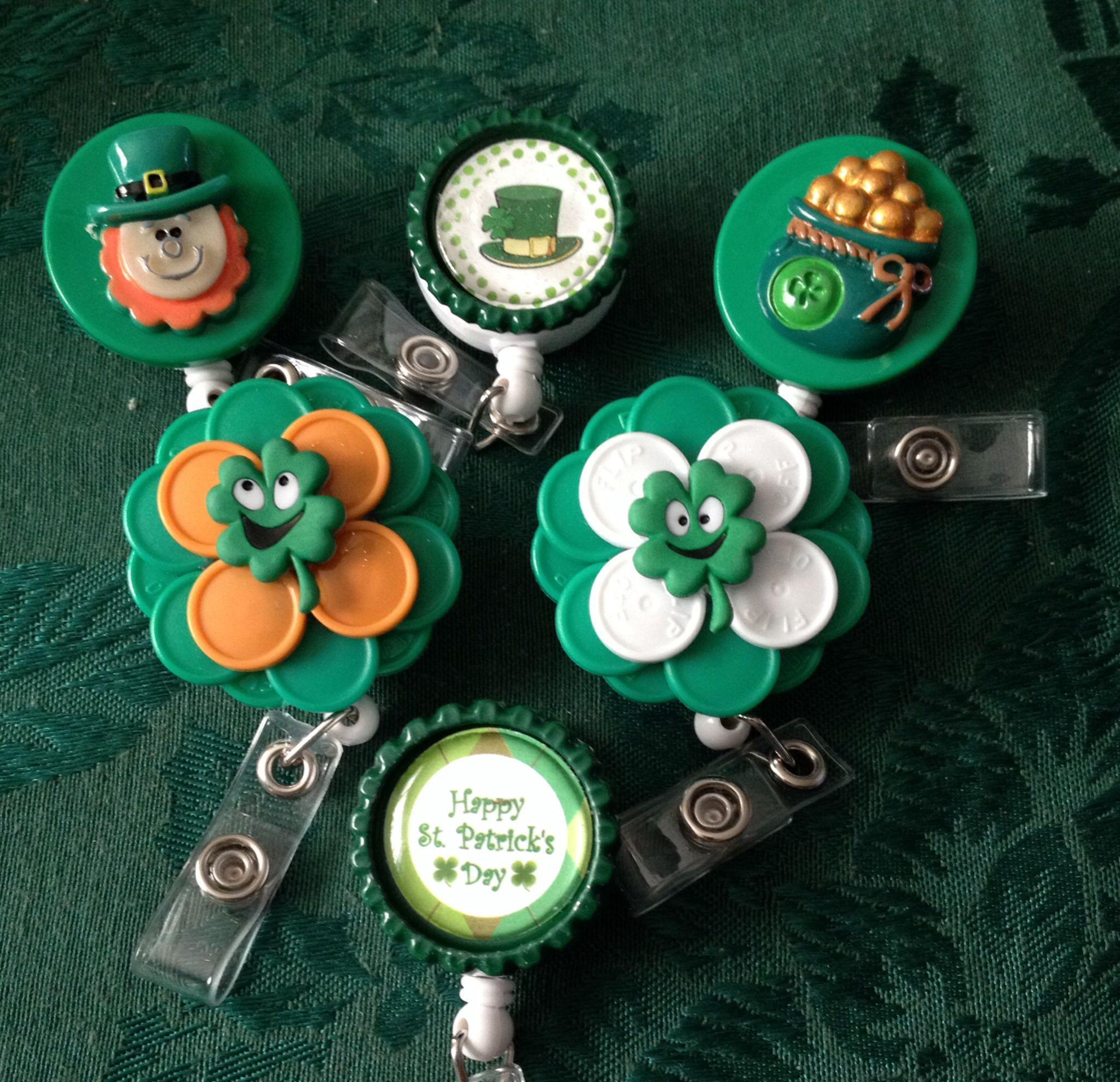 planner clip Happy St Patricks Day feltie badge reel