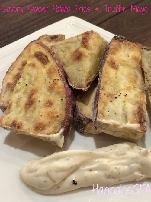 Day 5: Savory Sweet Potato Fries with Truffle Mayo #hannahsGFA #glutenfree