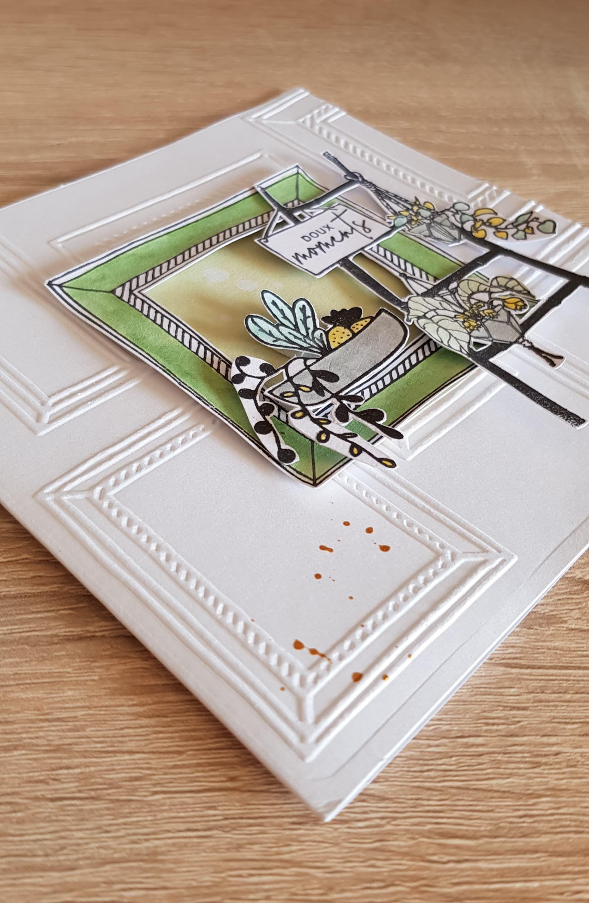 Carte Scrapbooking Plaque D Embossage Cadres De Florileges Design Tampon Cadre De Florileges Design Floricolo Carte Scrapbooking Scrapbooking Cadre Carte