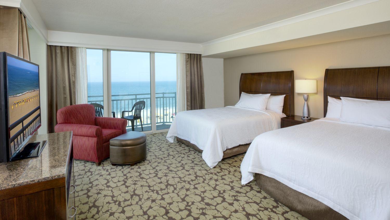 Oceanfront Guest Room At The Hilton Garden Inn Virginia Beach Hotels