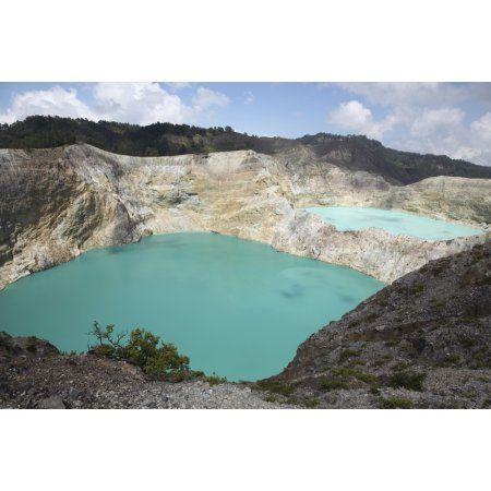 CANVAS Kelimutu Crater Lake Art print POSTER