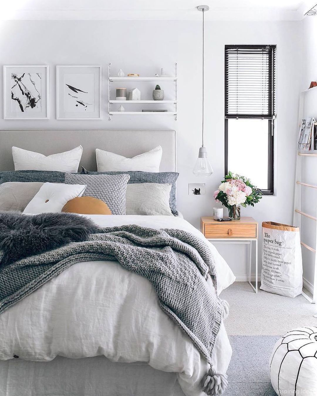 Nordic Home Decor On Instagram Cozy Bed Inspo Because It S Here In New Zealand Credits Pin Home Decor Bedroom Bedroom Interior Master Bedrooms Decor