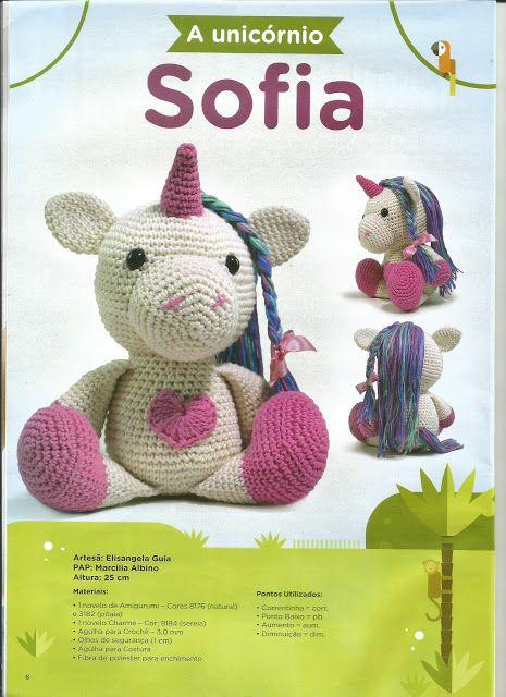 Amigurumi Unicórnio Tamanho 30 cm Pattern: Sweet Oddity Art compre através  do site: www.elo7.com.br/6229A… | Bichinhos de croche, Pônei de crochê,  Cavalo de crochê | 640x465