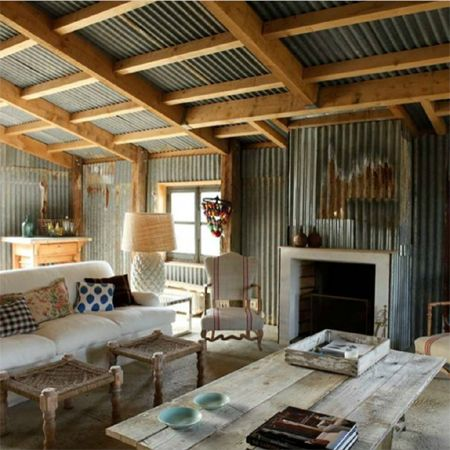 Corrugated sheet metal in living spaces Ides Pinterest