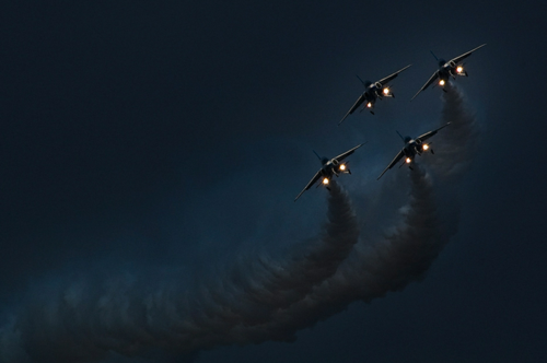 Trails Fighter Jets Military Photography Photo