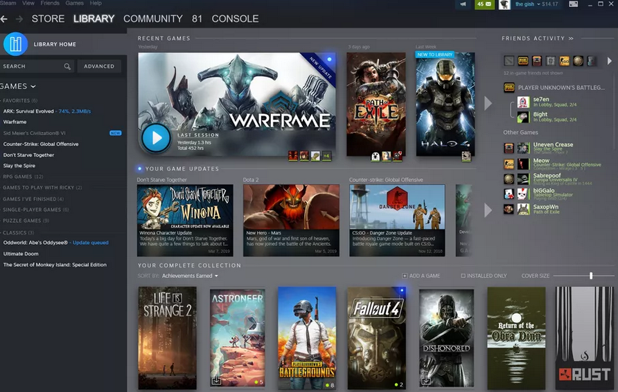 Steam Game Library Redesign New Steam Events Feature