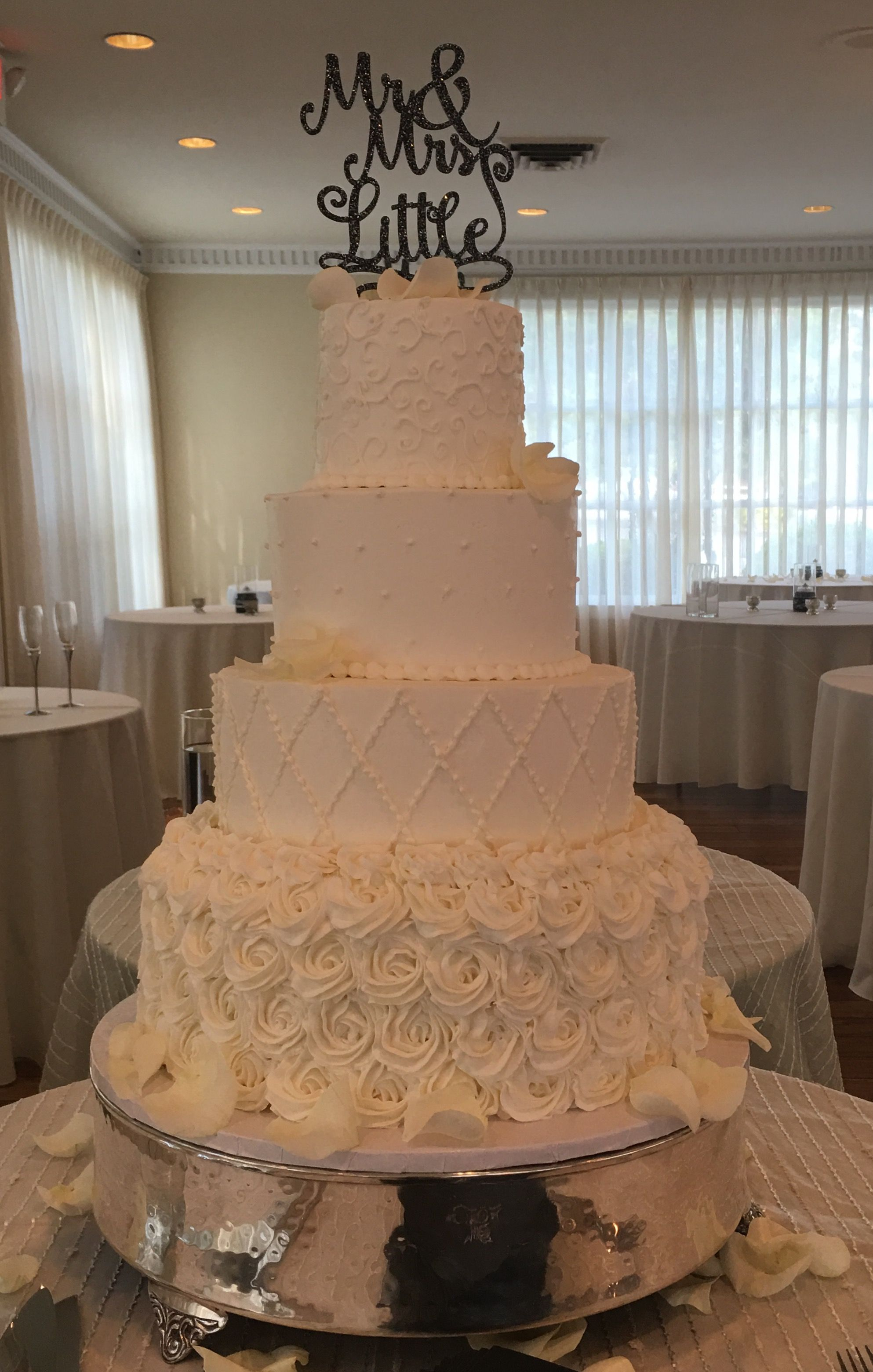 Patterned buttercream wedding cake our cakes pinterest