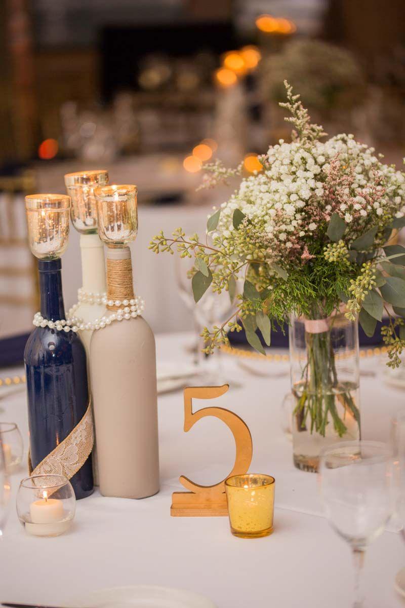 Wine Bottle Tablescape - Citrus Club Wedding in Downtown Orlando ...