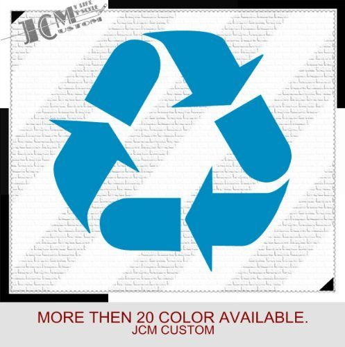 Recycle recycling symbol vinyl decal sticker 6 x 6 11 light blue